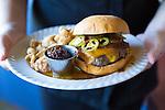 The Triple B Burger at Cow, Pig, Bun Restaurant in Kihei, Maui, Hawaii, USA