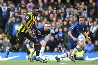 Isaac Success of Watford takes on the Chelsea defence during Chelsea vs Watford, Premier League Football at Stamford Bridge on 5th May 2019
