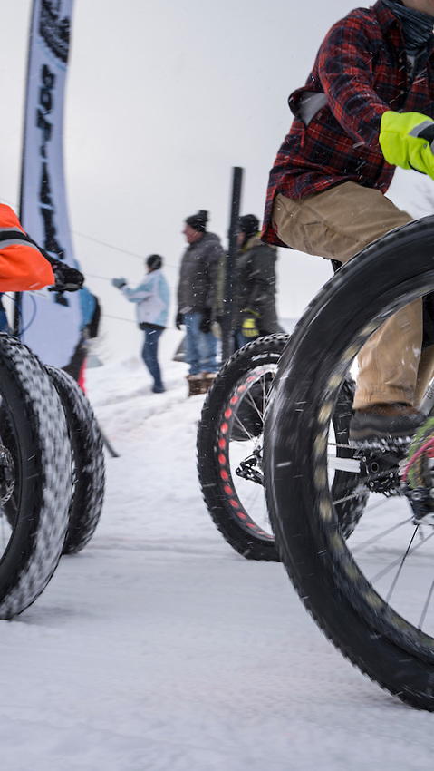The 906 Polar Roll winter bike race in Marquette, Michigan.