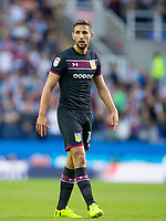 Conor Hourihane of Aston Villa during the Sky Bet Championship match between Reading and Aston Villa at the Madejski Stadium, Reading, England on 15 August 2017. Photo by Andy Rowland / PRiME Media Images.<br /> **EDITORIAL USE ONLY FA Premier League and Football League are subject to DataCo Licence.