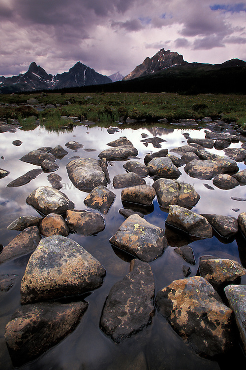 Amethyst lake in Tonquen valley,