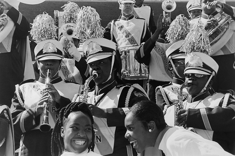 Eastern Senior High School band in Washington, D.C., on May 13, 1996. (Photo by Laura Patterson/CQ Roll Call via Getty Images)