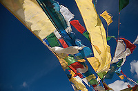 "Tibetan prayer flags constitutes of 5 colors and they should be in a proper sequence each symbolizing the elements of nature. From left to right first is Blue symbolizing ""Sky"", followed by White symbolizing ""Cloud"", then Red symbolizing ""Fire element"", then Green symbolizing ""Water element"" and finally Yellow symbolizing ""Earth element""."