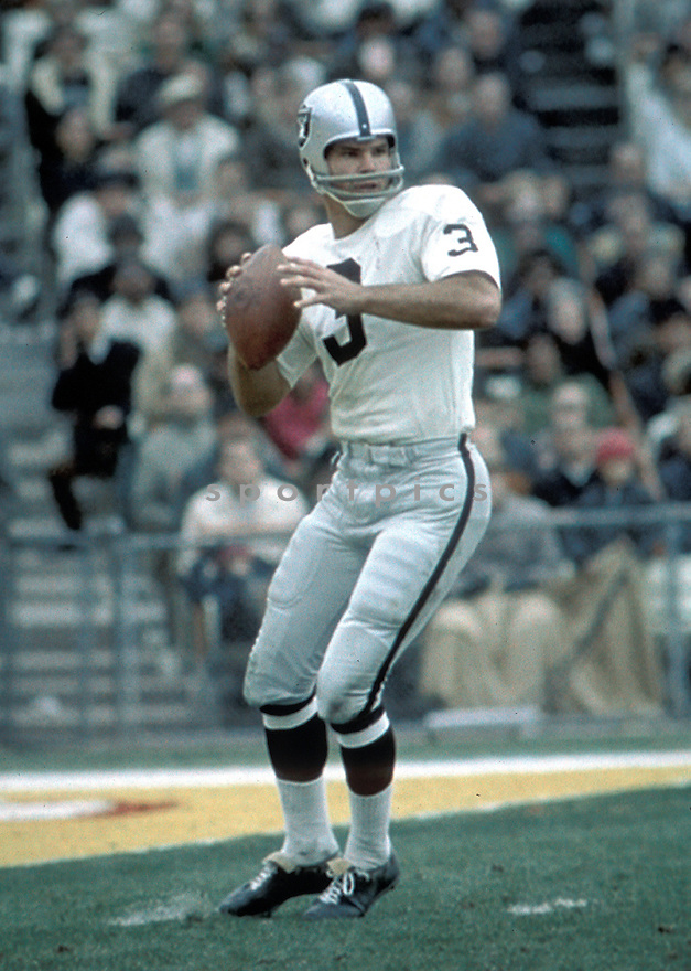 Oakland Raiders Daryle Lamonica (3) in action during a game.(AP Photo/David Durochik)