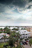 BELIZE. Belize City, view of the Great House Inn from the top of the Raddison Hotel Rooftop