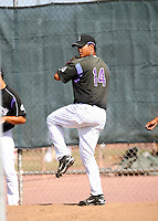 Jhoulys Chacin / Colorado Rockies 2008 Instructional League..Photo by: Bill Mitchell / Four Seam Images