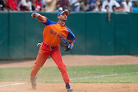 15 February 2009: Third base Yulieski Gourriel is seen during a training game of Cuba Baseball Team for the World Baseball Classic 2009. The national team is pitted against itself, divided in two teams called the Occidentales and the Orientales. The Orientales win 12-8, at the Latinoamericano stadium, in la Habana, Cuba.