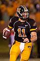 08 October 2009: Missouri quarterback Blaine Gabbert drops back to pass against Nebraska at at Memorial Stadium, Columbia, Missouri. Nebraska defeated Missouri 27 to 12.