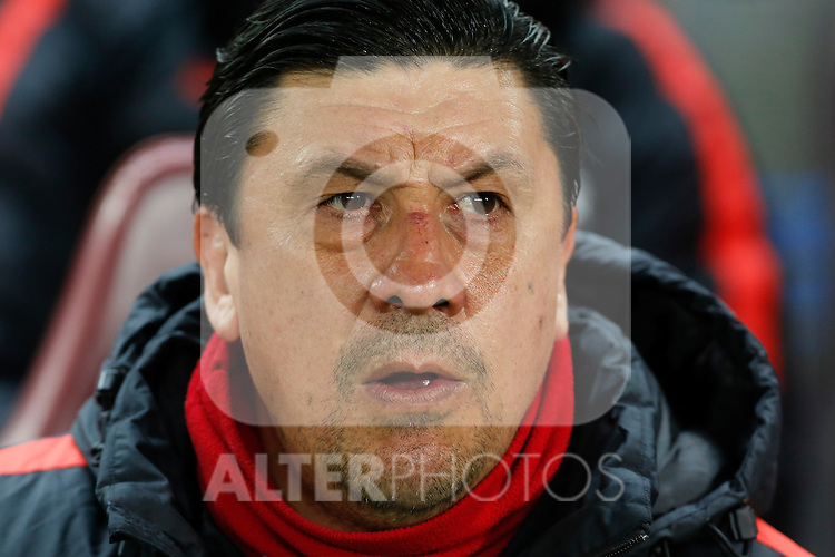 Atletico de Madrid´s second coach Mono Burgos during 2015-16 La Liga match between Atletico de Madrid and Deportivo de la Coruna at Vicente Calderon stadium in Madrid, Spain. March 12, 2016. (ALTERPHOTOS/Victor Blanco)