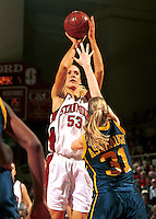STANFORD, CA - JANUARY 21: Carolyn Moos of the Stanford Cardinal during Stanford's 78-62 win over the California Golden Bears on January 21, 2000 at Maples Pavilion in Stanford, California.
