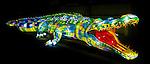 Saltwater Crocodile lantern during the Vivid 2016 Sydney Festival at Taronga Zoo, Sydney Australia.