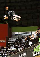 ATENCÃO EDITOR: FOTO EMBARGADA PARA VEICULO INTERNACIONAL - SÃO PAULO, SP, 30 SETEMBRO 2012 -  PRO RAD JUMP FESTIVAL - Final Skate Vertical Professional do Pro Rad Jump Festival Que teve o skater Pedro Barros (foto) como segundo colocado, o festival aconteceu no Ginásio do Ibirapuera no Ibirapuera na zona sul da capital paulista nesse domingo,30. (FOTO: LEVY RIBEIRO / BRAZIL PHOTO PRESS)