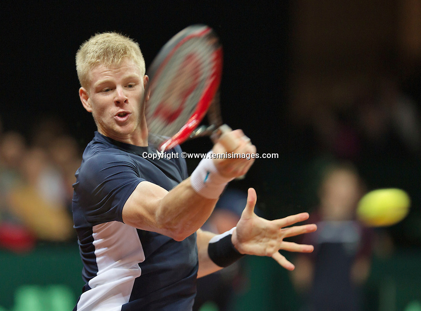 Gent, Belgium, November 27, 2015, Davis Cup Final, Belgium-Great Britain, First Match, Kyle Edmund (GRB)<br /> © Henk Koster/Alamy Live News