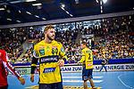 Freude bei Jannik KOHLBACHER (#80 Rhein-Neckar Loewen) \ beim Spiel in der Handball Bundesliga, SG BBM Bietigheim - Rhein Neckar Loewen.<br /> <br /> Foto &copy; PIX-Sportfotos *** Foto ist honorarpflichtig! *** Auf Anfrage in hoeherer Qualitaet/Aufloesung. Belegexemplar erbeten. Veroeffentlichung ausschliesslich fuer journalistisch-publizistische Zwecke. For editorial use only.