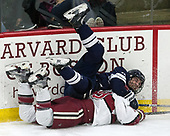 Evan Smith (Yale - 13), Jake Horton (Harvard - 19) - The Harvard University Crimson tied the visiting Yale University Bulldogs 1-1 on Saturday, January 21, 2017, at the Bright-Landry Hockey Center in Boston, Massachusetts.