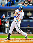 2 March 2010: New York Mets' first baseman Mike Jacobs at bat against the Atlanta Braves during the Opening Day of Grapefruit League play at Tradition Field in Port St. Lucie, Florida. The Mets defeated the Braves 4-2 in Spring Training action. Mandatory Credit: Ed Wolfstein Photo