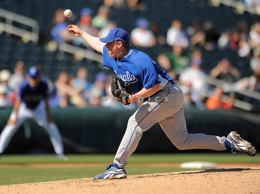 BRANDON DUCKWORTH, of the Kansas City Royals, in action during the Royals game against the Texas Ranger on February 23, 2009 in Surprise, Arizona. The Rangers beat Royals 15-3