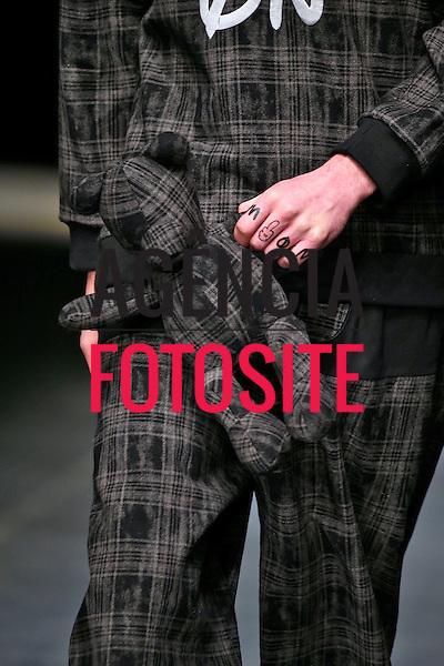 Londres, Inglaterra &ndash; 08/01/2014 - Desfile de Bobby Abley durante a Semana de moda masculina de Londres - Inverno 2014. <br /> Foto: FOTOSITE