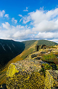 Mount Bond from the summit of Bondcliff. Located on the Bondcliff trail in the Pemigewasset Wilderness, which is in the White Mountain National Forest of New Hampshire, USA.