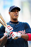 3 July 2009: Atlanta Braves shortstop Yunel Escobar warms up prior to facing the Washington Nationals at Nationals Park in Washington, DC. The Braves defeated the Nationals 9-8 to take the first game of the 3-game weekend series. Mandatory Credit: Ed Wolfstein Photo