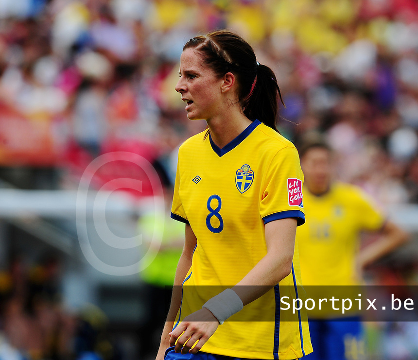 Fifa Women's World Cup Germany 2011 : Colombia - Sweden at Bayarena Leverkusen : Lotta Schelin.foto DAVID CATRY / Vrouwenteam.be
