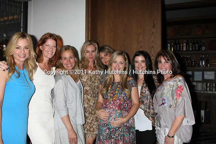 LOS ANGELES - OCT 2:  Jessica Collins, Michelle Stafford, Genie Francis, Eileen Davidson, Jess Walton, Marcy Rylan, Jessica Heap, Kate Linder attending the Marcy Rylan Baby Shower Hosted by Eileen Davidson at the Cecconi's West Hollywood on October 2, 2011 in West Hollywood, CA