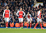 Arsenal's Per Mertesacker looks on dejected after Tottenham's second goal<br /> <br /> - English Premier League - Tottenham Hotspur vs Arsenal  - White Hart Lane - London - England - 5th March 2016 - Pic David Klein/Sportimage