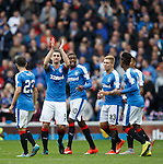 Lee Wallace celebrates his goal