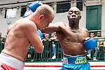 Justin Menzie vs Josef Takacs Super Welterweight Contest During Goodwin Boxing: Summer Fight Festival. Photo by: Simon Downing.<br /> <br /> Saturday 16th July 2016 - York Hall, Bethnal Green, London, United Kingdom.