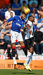 25.08.2019 St Mirren v Rangers: Connor Goldson and Jon Obika