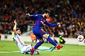 11th January 2018, Camp Nou, Barcelona, Spain; Copa del Rey football, round of 16, 2nd leg, Barcelona versus Celta Vigo; Jose Arnaiz breaks forward to get his shot on goal