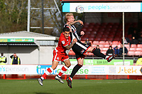 Ludvig Öhman of Grimsby Town and Reece Grego-Cox of Crawley Town during Crawley Town vs Grimsby Town, Sky Bet EFL League 2 Football at Broadfield Stadium on 9th March 2019