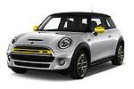 2020 MINI MINI-Electric Cooper-SE-L 2 Door Hatchback Angular Front automotive stock photos of front three quarter view