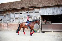 2017 GBR-YARD VISIT: Shiwon Green with Frankie - Training with Wendi Williamson.  Ledbury, Great Britain. Tuesday 27 June. Copyright Photo: Libby Law Photography