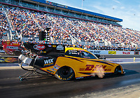 Oct 13, 2018; Concord, NC, USA; NHRA funny car driver J.R. Todd during qualifying for the Carolina Nationals at zMax Dragway. Mandatory Credit: Mark J. Rebilas-USA TODAY Sports