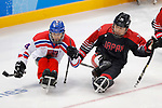 Nao Kodama (JPN), <br /> MARCH 13, 2018 - Para Ice Hockey : <br /> Qualification round between Czech Republic 3-0 Japan <br /> at Gangneung Hockey Centre during the PyeongChang 2018 Paralympics Winter Games in Pyeongchang, South Korea. <br /> (Photo by Yusuke Nakanishi/AFLO)