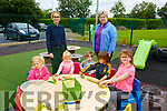 Listowel Childcare: Carol Wren Guiney & Helen Walsh with attendees at Listowel Childcare on Tuesday morning last.