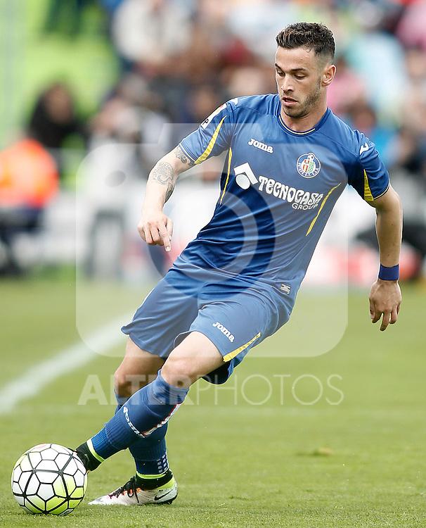 Getafe's Alvaro Vazquez during La Liga match. April 16,2016. (ALTERPHOTOS/Acero)