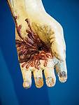 Bloody hand, Cristo passo, Academy Gallery, Venice, Italy