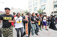 12 AUGUST, 2015, SAINT LOUIS, MO: On Monday, fifty seven people were arrested as part of the #UnitedWeFight march and peaceful civil disobedience at the Thomas F. Eagleton U.S. Courthouse - remembering the the year-long resistance sparked in #Ferguson by the murder of #MikeBrown<br />