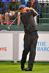 29 August 2009: Padraig Harrington of Ireland tees off on the first hole during the third round of The Barclays PGA Playoffs at Liberty National Golf Course in Jersey City, New Jersey.