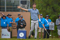 Ollie Schniederjans (USA) watches his tee shot on 1 during day 3 of the Valero Texas Open, at the TPC San Antonio Oaks Course, San Antonio, Texas, USA. 4/6/2019.<br /> Picture: Golffile | Ken Murray<br /> <br /> <br /> All photo usage must carry mandatory copyright credit (&copy; Golffile | Ken Murray)