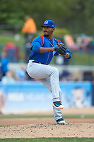 South Bend Cubs relief pitcher Manuel Rondon (32) in action against the West Michigan Whitecaps at Fifth Third Ballpark on June 10, 2018 in Comstock Park, Michigan. The Cubs defeated the Whitecaps 5-4.  (Brian Westerholt/Four Seam Images)