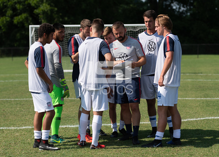 Rome, GA - Friday, June 21, 2019:  Ross Moffat, Para 7 USMNT during a Para 7 USMNT training session.