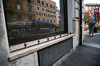 """Anti-Homeless Person spikes.<br /> <br /> Rome, 22/06/2019. Today, more than 15,000 people, including families and children, attended the demonstration called """"22 giugno Corteo per una città aperta, solidale e contro gli sgomberi: Roma non si chiude"""" (June 22, March for an open city, solidarity and against evictions: Rome cannot be shut down, 1.). The peaceful and colourful march was held from Piazza Vittorio Emanuele II to Via dei Fori Imperiali in central Rome. The demonstration was called to protest against the planned evictions of social centres and housing occupations linked to the endless Rome's 'housing crisis' and regeneration plans. The march was also called in support of Solidarity and Social Justice, against the rising of fascism, inequalities, social exclusion, racism, sexism, intolerance, """"authoritarian intimidations"""", and against the policies of the coalition Government League – Five Star Movement, especially the so-called """"Decreti Salvini / Decreti Sicurezza"""" (The first Decree is now Law of the Italian Republic, Legge 1° Dicembre 2018, n. 132, http://bit.do/eE7uo; Decree Law n. 53, 14 June 2019, http://bit.do/eV3iZ), made by the Interior Minister Matteo Salvini (League - Lega, http://bit.do/eV3EP & http://bit.do/eE7Ey), accused by protesters to be racist and restrictive of civil liberties. Last but not least, the march was held to show support and solidarity with migrants, refugees, Rom and Sinti Communities, minorities, with the NGOs trying to work and save lives in the Mediterranean, and to make heard the voices of the people who have paid the crisis with the rise of exploitation, discriminations, unemployment.<br /> <br /> Footnotes and Links:<br /> 1. http://bit.do/eV3jA"""