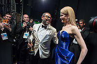 Nicole Kidman poses backstage after presenting the Oscar&reg; for Best Original Screenplay to Jordan Peele for work on &ldquo;Get Out&rdquo; during the live ABC Telecast of The 90th Oscars&reg; at the Dolby&reg; Theatre in Hollywood, CA on Sunday, March 4, 2018.<br /> *Editorial Use Only*<br /> CAP/PLF/AMPAS<br /> Supplied by Capital Pictures