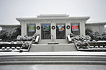 Huntsville Museum of Art in snow on Christmas Day Dec. 25, 2010.  Bob Gathany Photographer