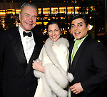 From left: Gordon Bethune, Jessica Rossman and Edward Sanchez at the Gala on the Green benefitting the Discovery Green Conservancy Saturday Feb. 27,2010. (Dave Rossman Photo)