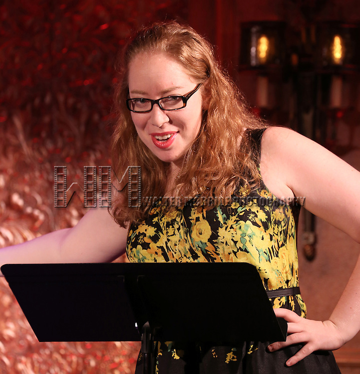Jennifer Ashley Tepper introduces a press preview of 'The Last 5 Years in Concert'  at 54 Below on September 23, 2013 in New York City.