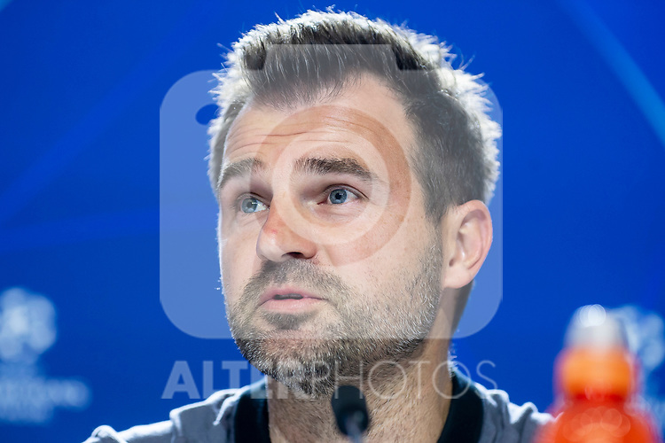 Club Brujas coach Ivan Leko during press conference the day before Group Stage UEFA Champions League match between Atletico de Madrid and Club Brujas at Wanda Metropolitano Stadium in Madrid, Spain. October, 2018.  (ALTERPHOTOS/Borja B.Hojas)